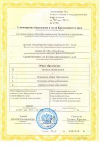 Свидетельство об аккредитации приложение